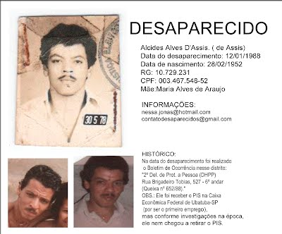 "Alcides Alves D""Assis Desaparecidos do Brasil"